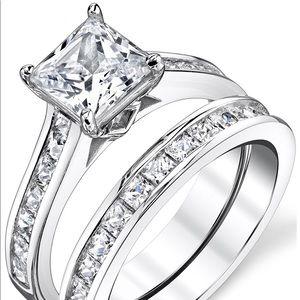Bridal Set Engagement Wedding Ring